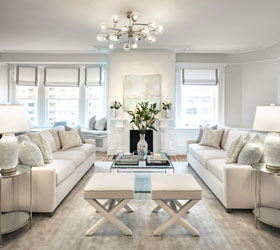 Light and Airy Transitional Living Room