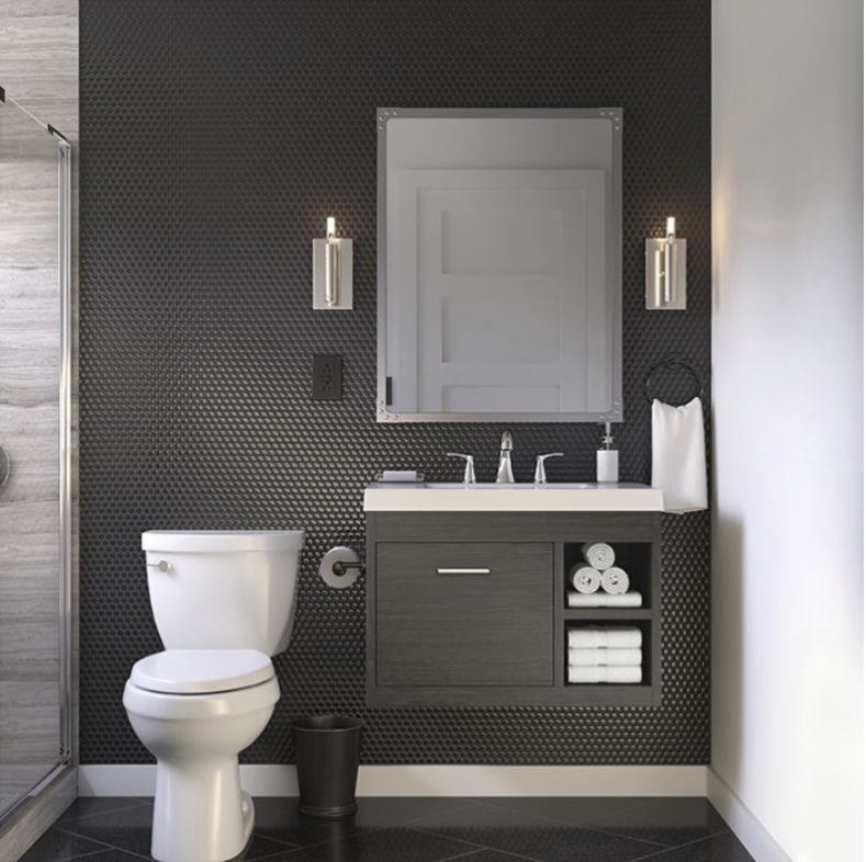 Masculine Dark Bathroom